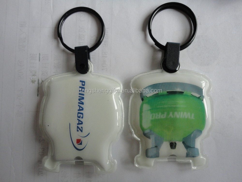 Environmental Promotional PVC LED Keychain, led keychain flashlight, pvc light keychain
