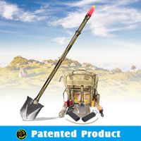 Survival Kit For Car/Outdoor Multifunction Shovel with Military fire starter and LED flashlight
