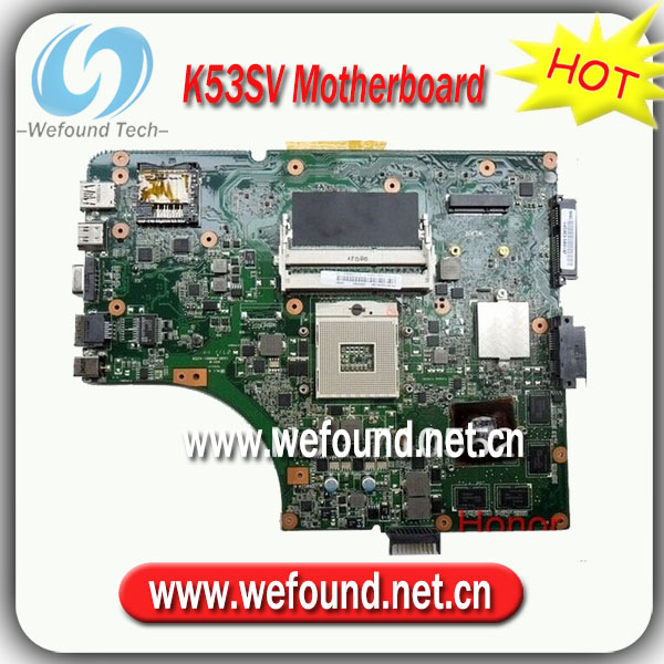 100% Working Laptop Motherboard for ASUS K53SV Series Mainboard,System Board