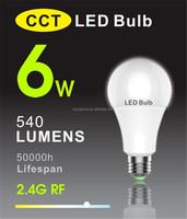 manufacturer 6w color temperature led lighting bulb