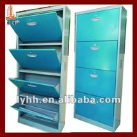 Vertical association design Lockable 4 layer shoe stores racks for hotel