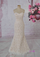 New style champagne sexy mermaid hot sale bridal dress