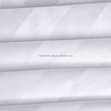 White solid color hotel 100% cotton satin stripe fabric