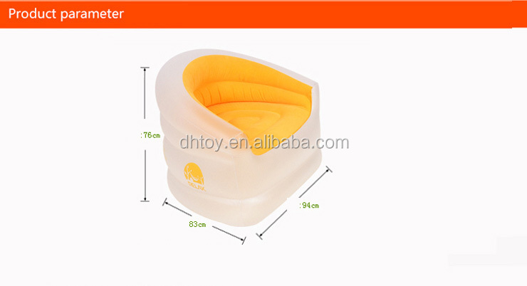 transparent flocking inflatable sofa
