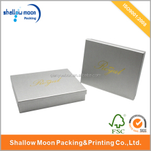 Less MOQ Luxury Hot Stamping White Art Paper Jewelry Packing Box