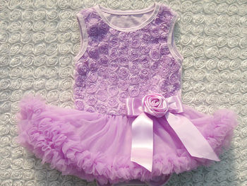eye-catchig fashion designed rosette pettiskirt dress kids of rich colors in stock