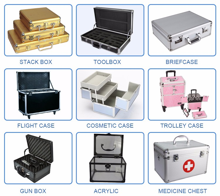 Online wholesale sales Alibaba fashion upscale aluminum storage box