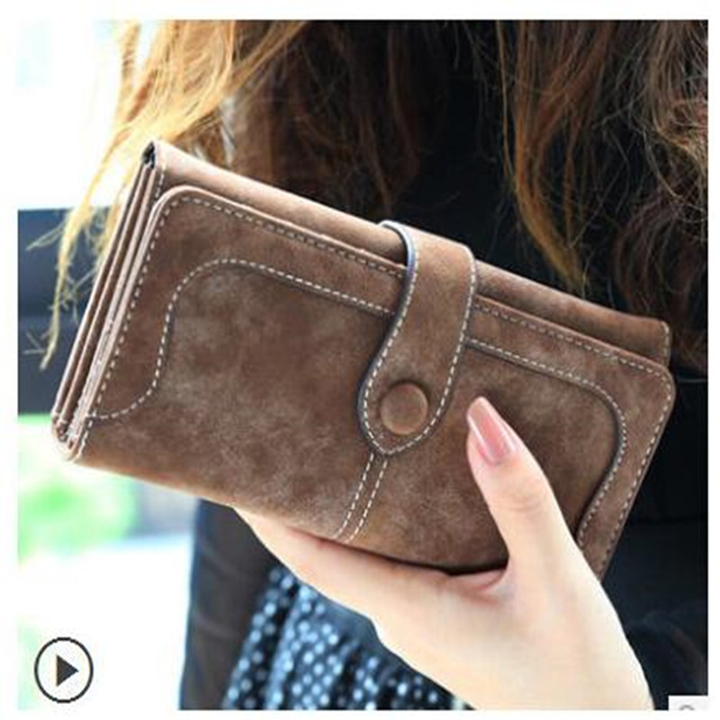 New Arrive 2017 Fashion Retro Matte Stitching <strong>Wallet</strong> Women Long Purse Clutch Women Casual Hasp Dollar Price <strong>Wallet</strong> Handbag
