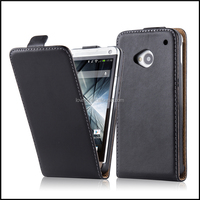 Magnetic Genuine Real Flip Leather Case Wallet Cover for HTC One M7