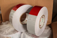 Red white retro adhesive pvc reflective sheet