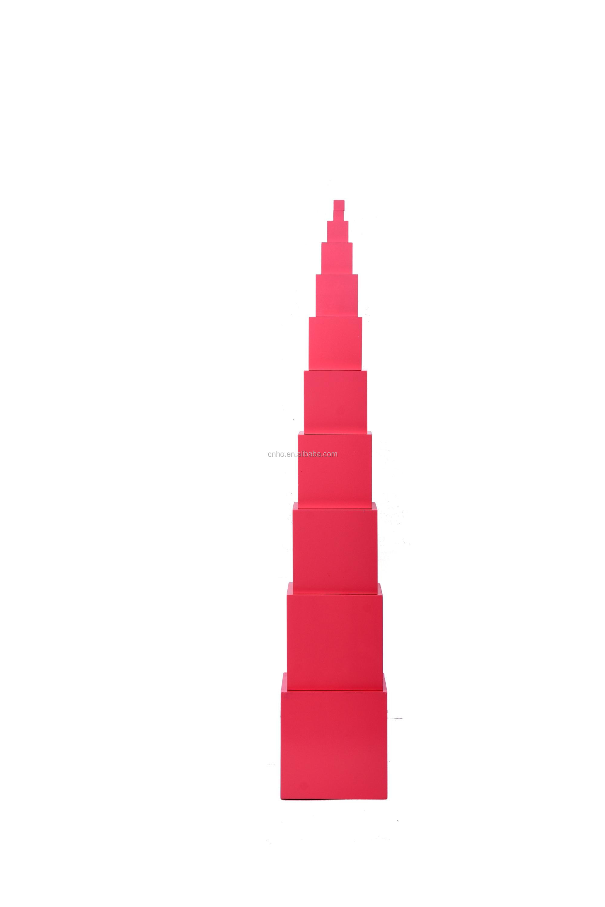 Montessori Pink Tower With Stand