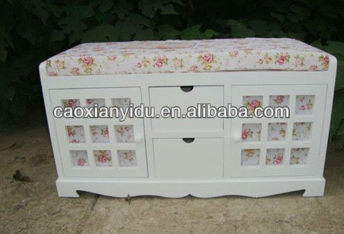Hot selling wooden shoe rack,antique wooden footstool, wooden storge cabinet