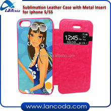 sublimation smart phone cover with window