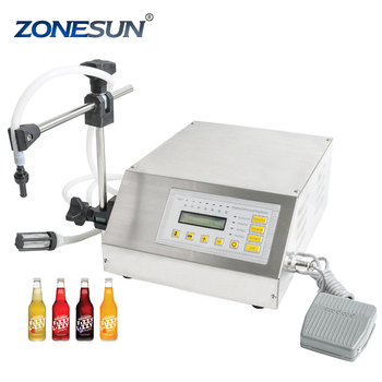 ZONESUN 220V or 110V GFK-160 Digital Control Liquid Filling Machine Small Portable Electric Liquid Water Filling Machine supply