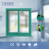 High standard double glazed aluminium thickness of sliding window glass