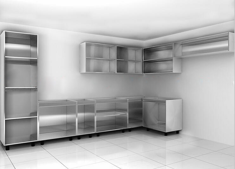 High gloss finish made in China affordable modular ready made kitchen cabinets