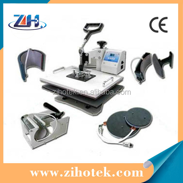 CE approved digital Combo 6 in 1 heat press / cellphone cases printing