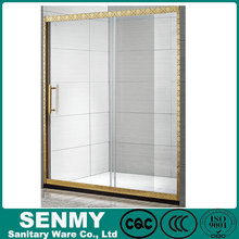 Rectangular Frameless Tempered Glass Sliding Shower Door & toilet room design
