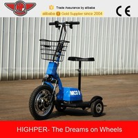 2015 new 3 wheel 350w 36v electric scooter for cheap sale (HP105E-A)