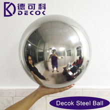 High quality large stainless steel hollow ball used for decoration/AISI 304 316 600mm gazing metal round ball