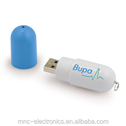 Medicine promotional gift plastic material personalized logo brand printing pill shaped usb flash memory pen drive