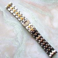 PVD two tone stainless steel watch strap china manufacture