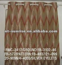 Faux Silk Embroidery Curtain Design