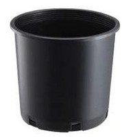 Agricultural greenhouse / flower garden plant growing round black plastic nursery pots with bottom drainage holes