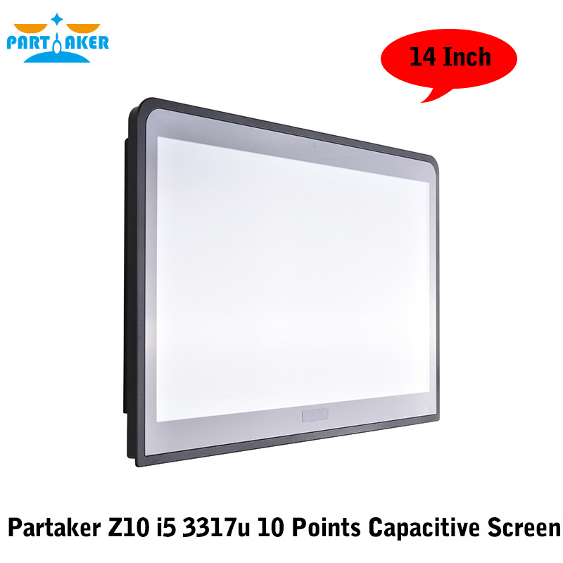 14 Inch Embedded Installation 10 Points Capacitive Touch Screen Intel Core I5 3317u Partaker Elite Z10 Embedded Computer Systems