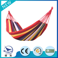 Safety & comfortable stripe style hammock suitable for outing