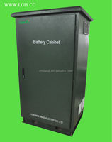 Outdoor IP55 battery cabinet/battery enclosure with good cooling system and temperature display