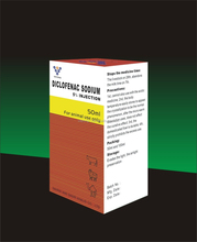 Diclofenac sodium injection 5% for animal use only