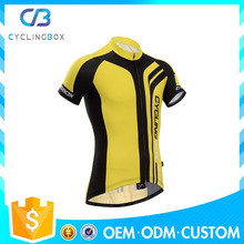 2014 cyclingbox new design black and yellow cycling jerseys