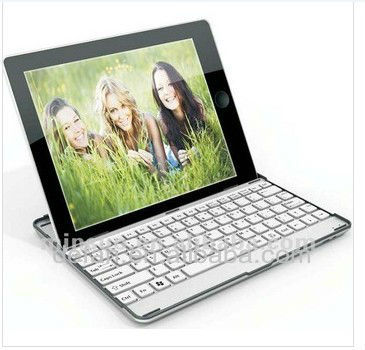 For iPad 4th 3rd 2nd Mobile Aluminum Bluetooth Stand Keyboard Case Dock