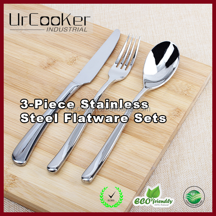 Super Quality Heavy Duty Stainless Steel 3-piece Fork Knife Spoon Flatware Set Cutlery Sets