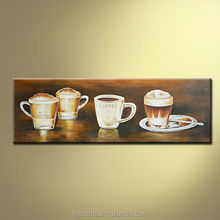 Hot selling coffee cup abstact oil painting 2014