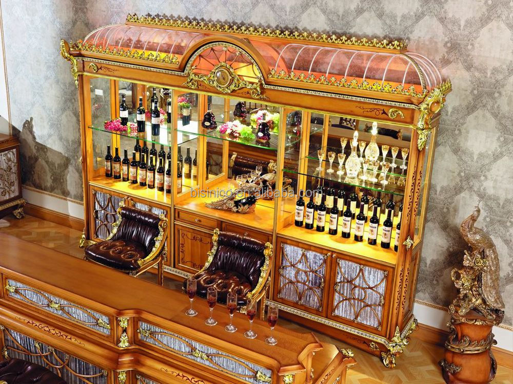 Luxury French Style Baroque Home Bar Furnitureretro Whole