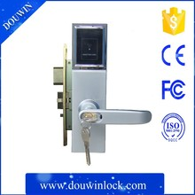 Zinc Alloy high quality hotel card door lock access control for Star Hotel RFID Access Control