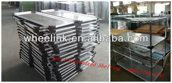Solid shelf galvanized
