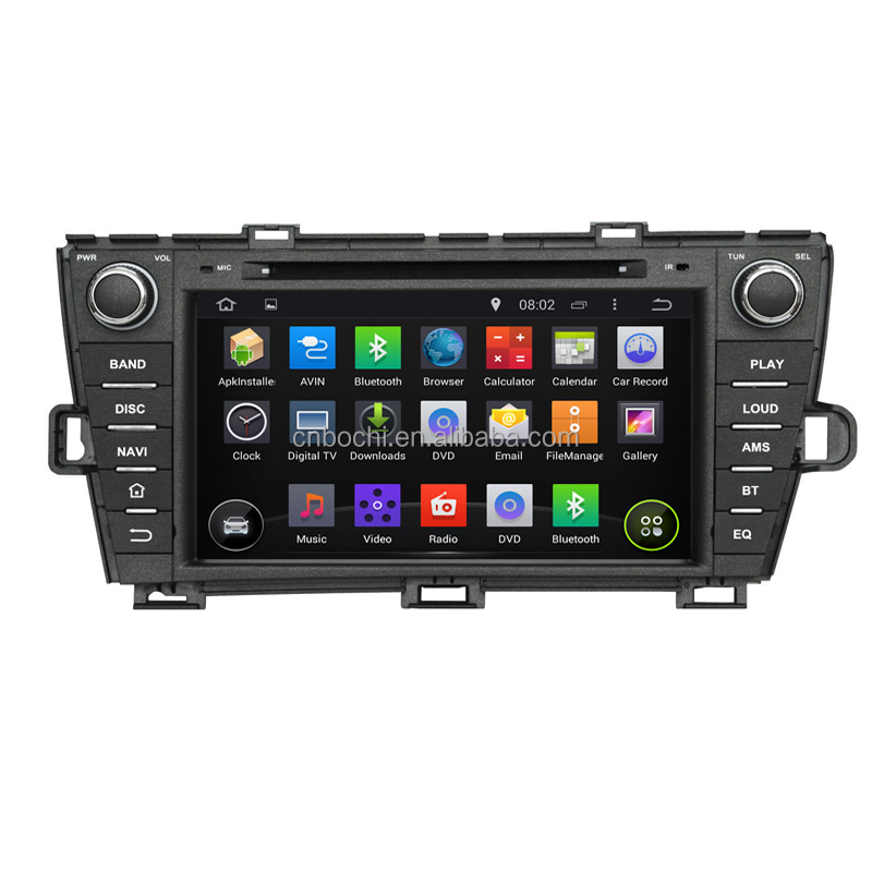 Android 5.1.1 system 8 Inches Car dvd Player with BT Radio for Toyota Prius left