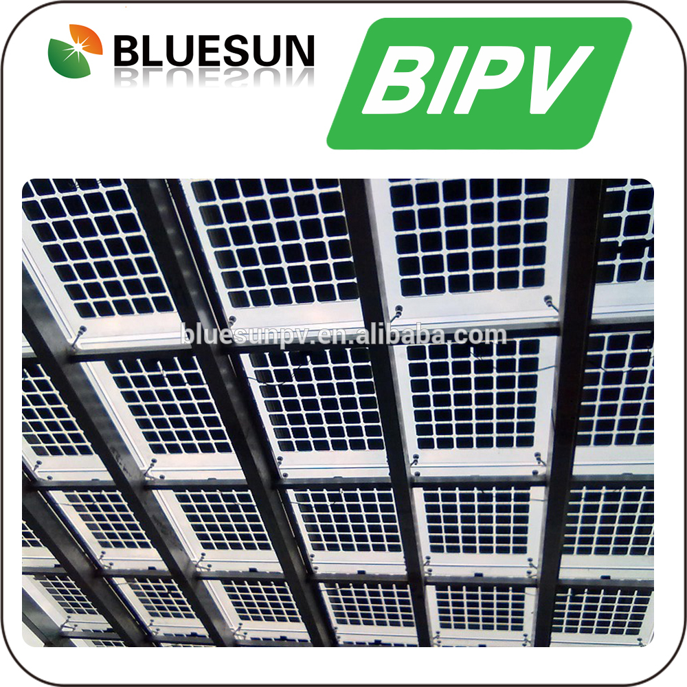Greenhouse Use 160W BIPV Solar Panel 160 Watts Transparent Solar Moudle