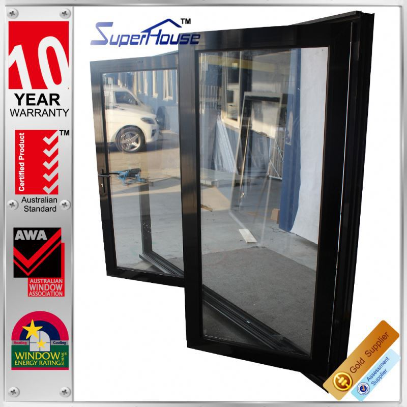 China product impact resistant aluminum glass latest designs doors of balconies