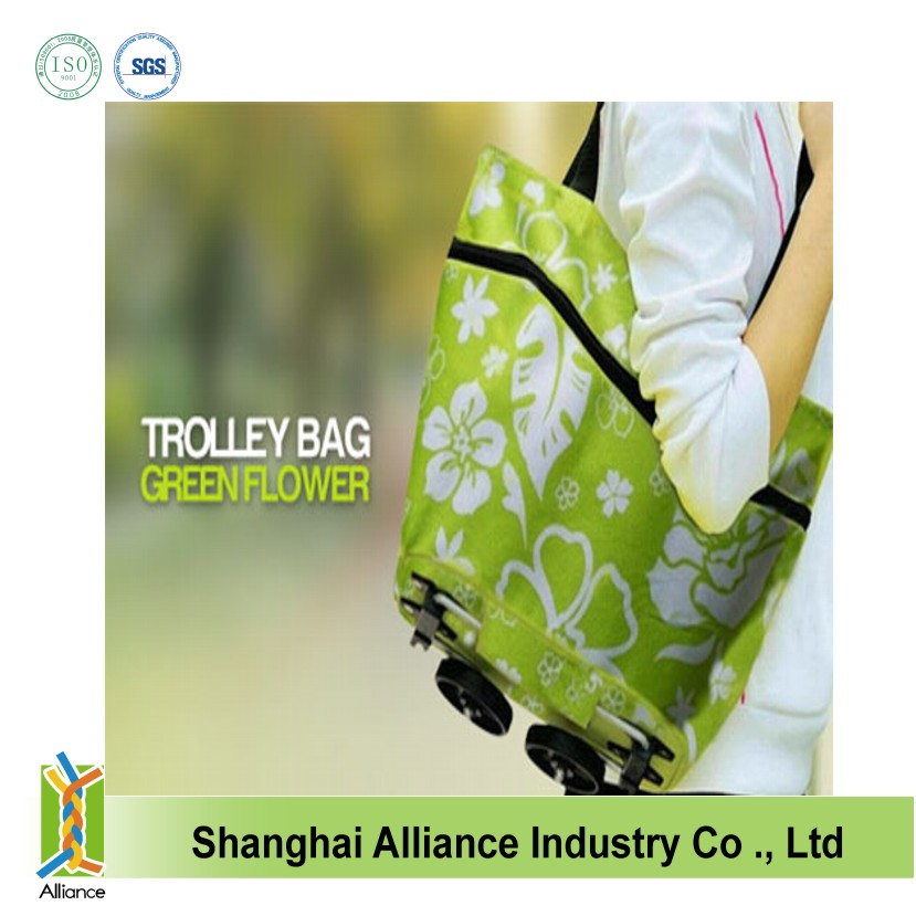 Printing trolley shopping bag with chair design ALD465