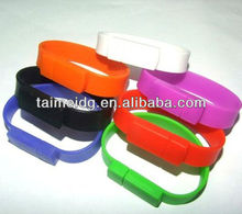silicone usb bracelet watch with 2GB capacity