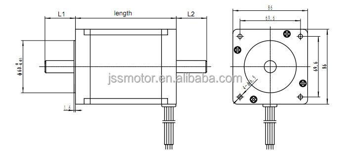 Nema 34 stepper motor 86mm closed loop stepper motor kit for Nema stepper motor frame sizes