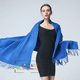 2018 New cheap 250g Plain knitted solid color cashmere feeling oversize pashmina scarf shawl