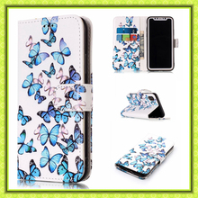 Standing Function Card Holder Designer Flip Cover Leather Phone Case For iPhone X Accessries Iphone Mobile