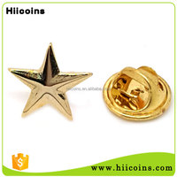 Wholesale Custom Gold Plated Enamel Metal Star Shaped Military Badge