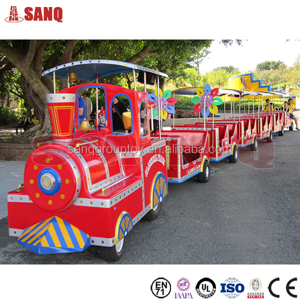 2016 Zhengzhou SANQGROUP Electric / diesel amusement park train mini trackless road train for sale