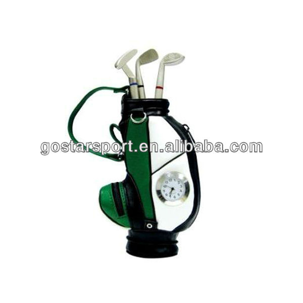 Novelty Golf Pens and Golf Pen Holder with Electronic Watch